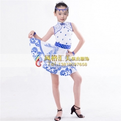 少儿拉丁舞蹈表演服装舞台服_风格汇美演出服饰