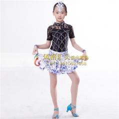 少儿拉丁舞蹈服装定做表演服_风格汇美演出服饰