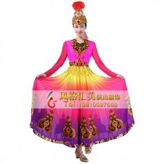 新疆舞蹈服装定做表演服舞台服定做_风格汇美演出服饰