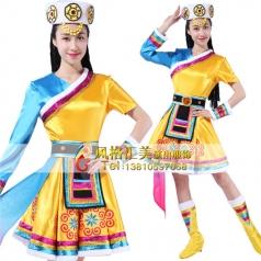 蒙古舞蹈表演服装定做舞台演出服装定制_风格汇美演出服饰