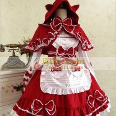 话剧小红帽儿童服装舞台表演服装定制_风格汇美演出服饰