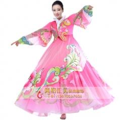 朝鲜舞蹈服装表演服定做厂家_风格汇美演出服饰