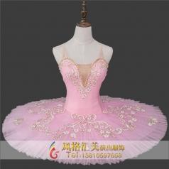 新款粉色系芭蕾舞裙舞台服装定制_风格汇美演出服饰