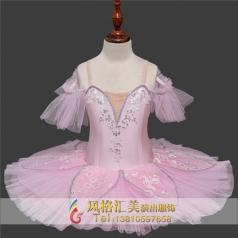 粉色儿童舞蹈芭蕾舞蹈服装定制_风格汇美演出服饰