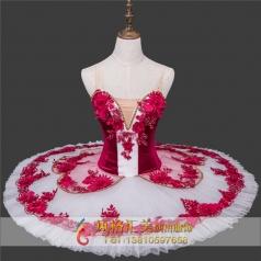 新款芭蕾舞服粉红色舞台服装定做厂家_风格汇美演出服饰