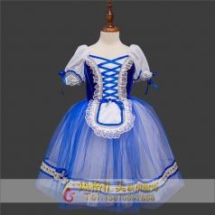 蓝色古典芭蕾演出表演服定制_风格汇美演出服饰