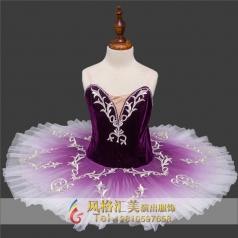女童芭蕾裙舞台演出表演服定做_风格汇美演出服饰