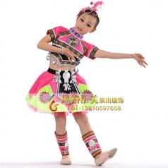 少数民族儿童舞蹈服装定做-风格汇美演出服饰