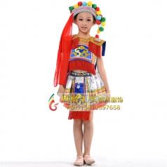 新款儿童少儿民族演出服装定制_风格汇美演出服饰