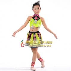 新款少儿民族舞台服装定做_风格汇美演出服饰