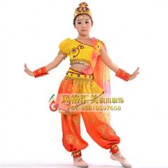 新款儿童民族舞蹈演出服装定制_风格汇美演出服饰