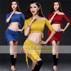肚皮舞练功服装新款夏季印度舞演出服装