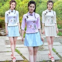 新款民国小姐装小凤仙舞台演出服装五四青年装