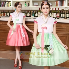 朝鲜族韩服舞蹈服大长裙表演服定制设计