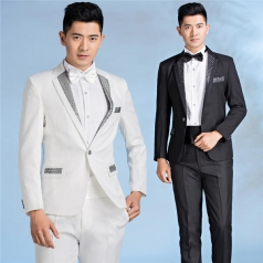 新款男士合唱服装西服套装合唱指挥演出服定制