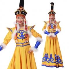 新款蒙古舞蹈服装定制内蒙舞服设计定制