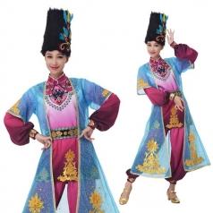 新款少数民族舞蹈演出服蒙古舞长裙表演服