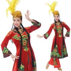 新款新疆舞演出服装维族表演服装定制设计
