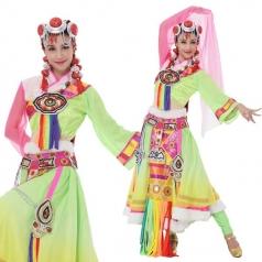 新款藏族舞蹈表演服装藏族舞台练习服装