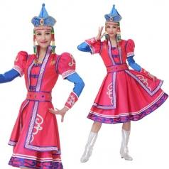 新款少数民族舞蹈服装蒙古舞服装舞台服定制