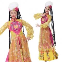 新款新疆舞维族舞蹈演出服装少数民族服装
