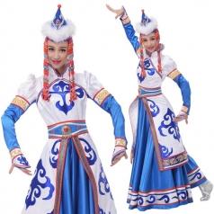 新款蒙古舞服装演出服少数民族演出表演服定制