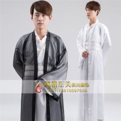新款男古代演出服装汉服古装演出表演服装定制设计