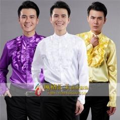 男子衬衫舞台演出服长袖男新款大合唱服装衬衫
