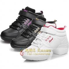 新款健美操舞鞋白鞋黑鞋健美操舞鞋定制厂家