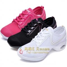 新款广场舞鞋舞蹈鞋健美操舞蹈鞋女士竞技体操舞鞋软底练舞鞋