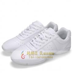健美操舞蹈鞋 竞技健美操鞋啦啦操训练鞋女士现代白色跳舞鞋