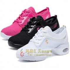 风格汇美新款健美操比赛舞鞋白鞋网格鞋定制设计厂家