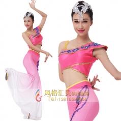 新款傣族舞蹈演出服装定制设计厂家