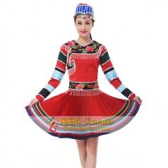 新款苗族舞蹈服装定制设计厂家