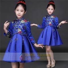 新款蓝色儿童演出礼服设计厂家直销厂家