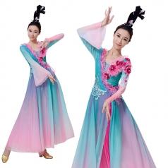 新款古典舞服装洛水伊人舞蹈演出服装定制设计厂家