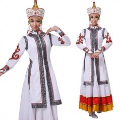 蒙古舞蹈服装演出服女蒙古表演服装舞台装