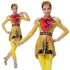 新款现代舞蹈服装舞台演出表演服装定制设计厂家