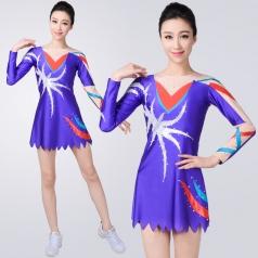 艺术体操演出服比赛服装紫色艺考艺术体操服装成人竞技体操服装
