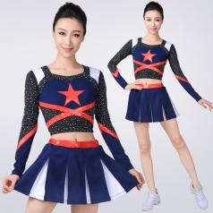 啦啦操表演服装成人团体舞蹈比赛服表演服拉拉队健美操演出服装夏