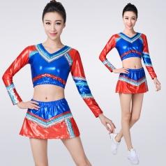 新款团体啦啦队服装学生运动会表演服装健美操服装团体演出服定制