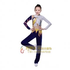 儿童健美操服装校园竞技服装女童体操服装定制