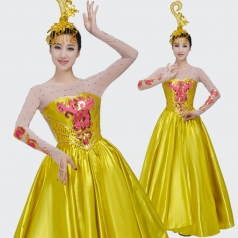 古典舞蹈演出服装定制新款女式古舞太阳花舞蹈裙服装定制