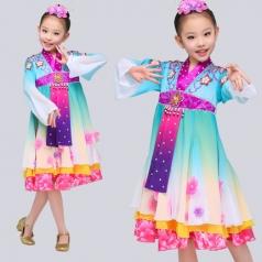 校园儿童演出服装朝鲜族舞蹈演出服装女款民族服装定制
