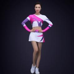 新款成人男女啦啦操表演服装健美操团体整套啦啦操演出服装校园啦啦队表演服装定制