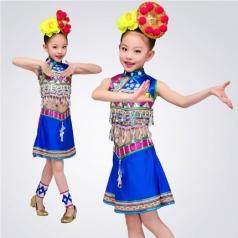 校园舞动演出服装女款儿童民族舞蹈演出服装定制款