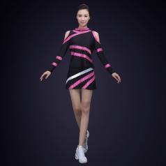 新款艺术体操服装表演服比赛考级练功裙子长袖艺考舞台演出服定制