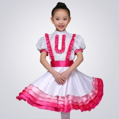 西式校园舞台演出服装女款合唱演出服装儿童合唱比赛服装定制
