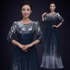 成人合唱比赛演出服装大型团体合唱演出服女款合唱服定制!