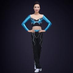 健美操演出服装校园比赛女子团体健美操演出服装定制